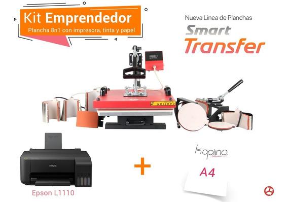 Kit Plancha 8 En 1 Con Impresora Y Papel De 38x38cm