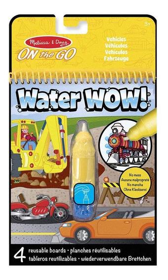Livro De Colorir - Water Wow - Veículos - Melissa And Doug