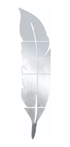 Espelho Decorativo Pena 80x20 Cm - Novidade