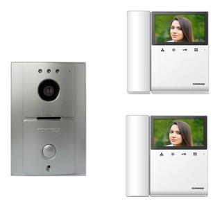 Commax-cdv43paq2-frente De Calle Y 2 Monitor Con Auricular