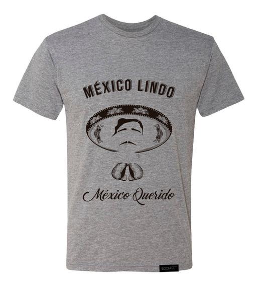 Playera Para Hombre Cuello Redondo Con Diseño Mexicano