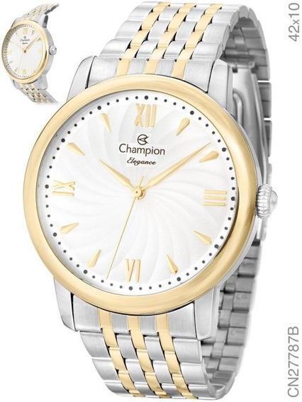 Relógio Champion Feminino Misto Prata Dourado