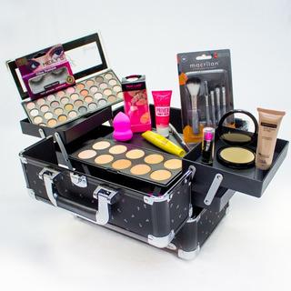 Maleta Extra Grande + Kit Maquiagem Ruby Rose + Colossal