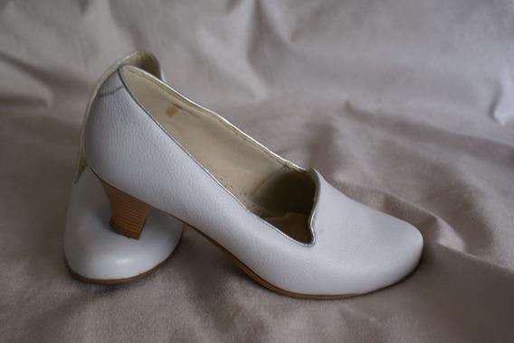Sapato Branco Anabela Confort