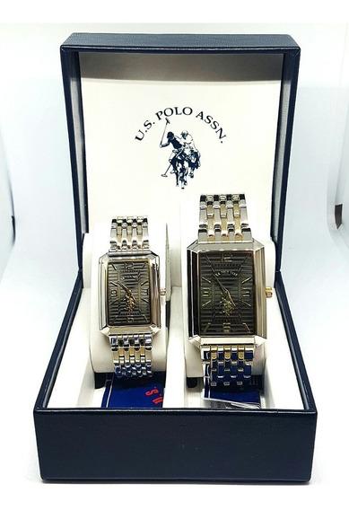 Set Relojes U.s. Polo Assn Nuevos Originales Dama Caballero