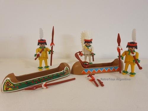 Playmobil Indio Art. 3352 + Indios Extra. Vintage Colección