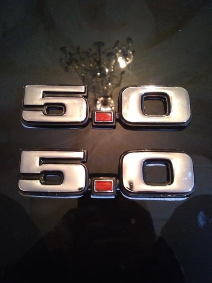Emblemas Laterales Ford Mustang 5.0 Para Modelos 80 Al 2004