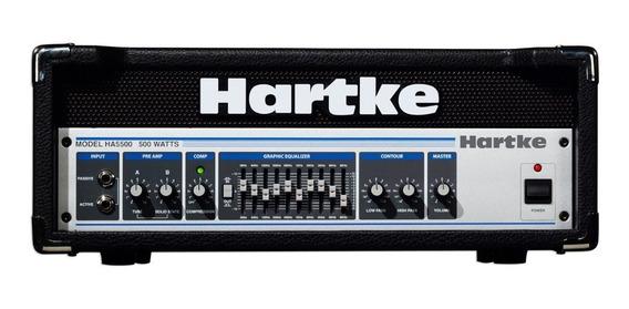Hartke Ha5500 Cabezal Prevalvular 500 Watts 4 Ohms C/compre.
