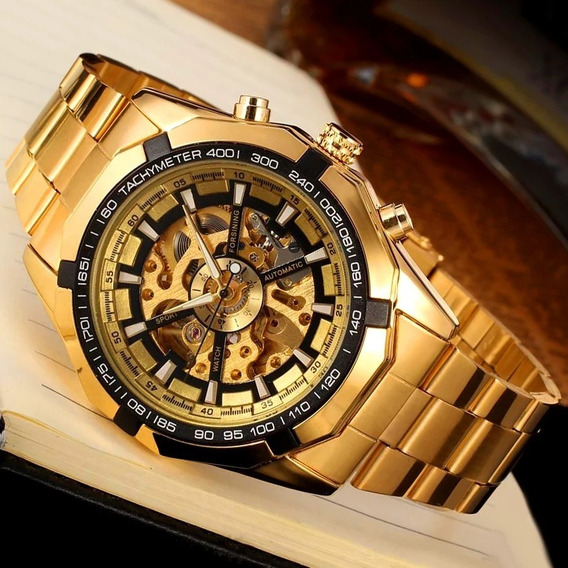 Relógio Winner Esqueleto Automático