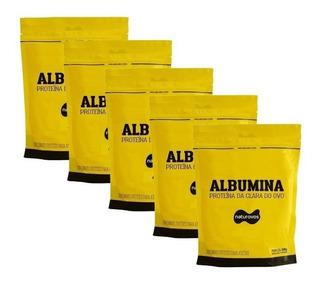 5x Albumina 500g Naturovos 2,5kg - Todos Sabores