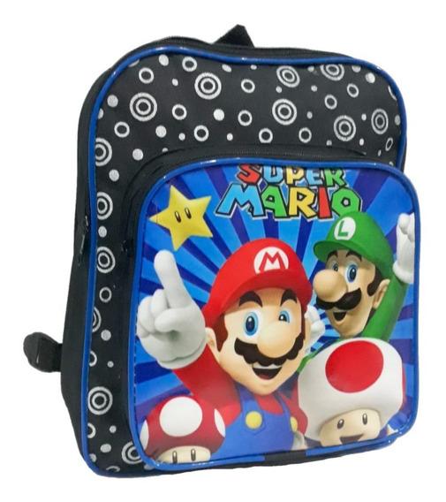 Mochila Escolar Infantil Impermeavel Super Mario E Luigi