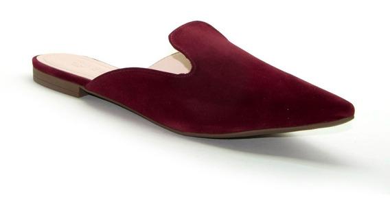 Sapato Flat Mule Bebece Camurça