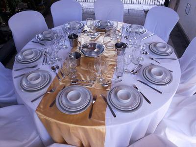 Alquiler De Vajilla,mesa,mantel,gazebo Zona Norte Oeste