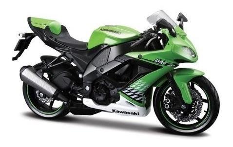Moto Kawasaki 2010 Maisto Metal 1:18