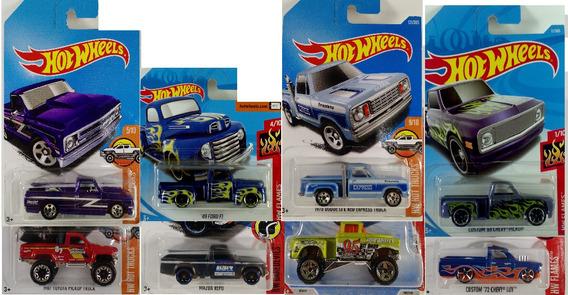 Hot Wheels Pickups 8 Modelos Basicos Ler Descrição