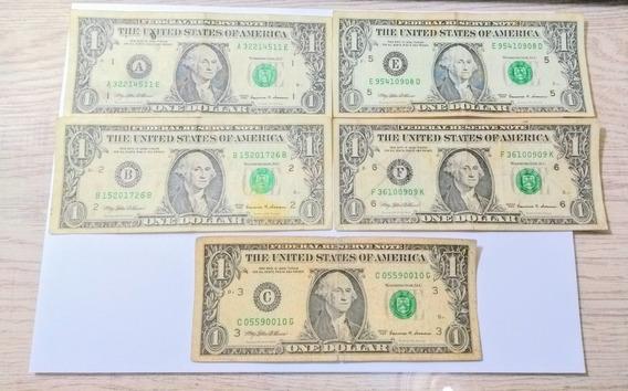 Ce010 Kit 9 Und America Cédula 1 Dólar Série 1999