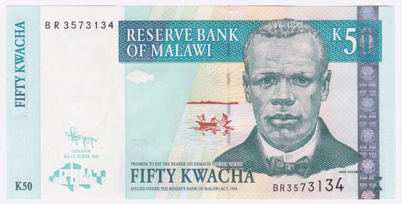 Malawi 2009 Billete De 50 Kwacha Sin Circular