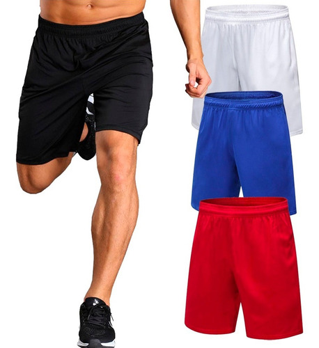 Imagen 1 de 7 de Shorts Hombre Deportivos Gimnasio Futbol Running Pantalon