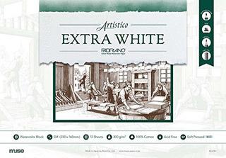 Musa Acuarela Papel Extra Blanco Bloques Detalles Sm 12 Piez