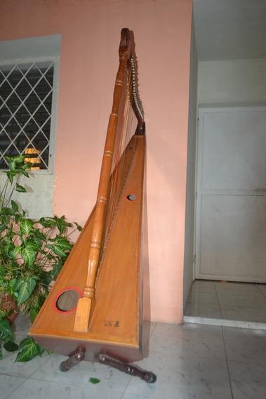 Arpa Llanera De 32 Cuerdas, Madera De Cedro