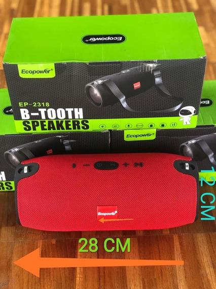 Caixa De Som Ecopower Bluetooth, Usb,sb, 16 Wrms Top Top