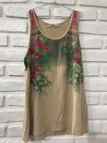 Musculosa De Mujer Sweet Talle M - Color Beige