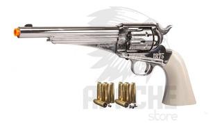 Kit Revólver Pressão Remington 1875 + 4 Co2 Nota Fiscal