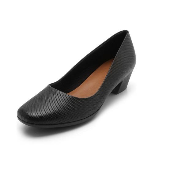 Sapato Usaflex Conforto Preto Salto 5 Cm Aa2801