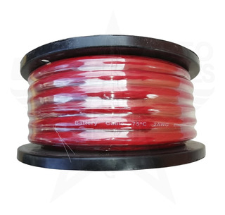 Rollo Cable Batería 15.2m Rojo O Humo Calibre 0 Electro