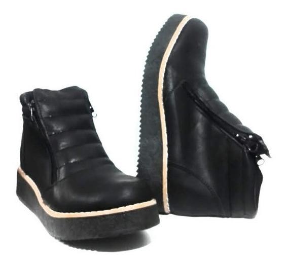 Zapato Facil De Poner Bota Cierre/borcego/mujer/fiorcalzados