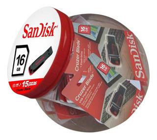Set De 15 Memorias Usb Sandisk Cruze Blade De 16 Gb