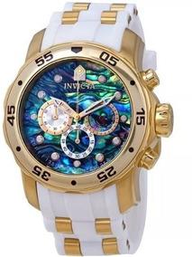 Relógio Invicta Masculino 24840 Abalone Ouro 18k Original
