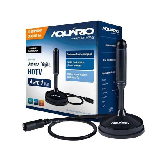 Antena Digital Hdtv 4 Em 1vhf-uhf-fm-hdtv/ Dtv-150 Aquario