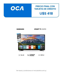 Smart Tv Samsung Full Hd 49 Un49j5290 Netflix Gtia Oficial