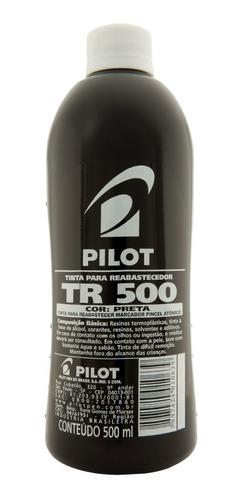 Imagem 1 de 1 de Tinta Pilot Para Reabastecer Pincel Atômico 500ml Preto