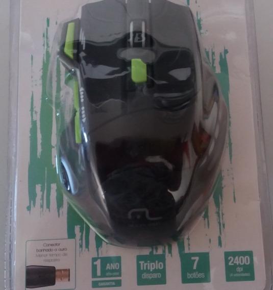 Mouse Gamer Jogo Fire Mo208 C/ Fio 7 Botões 2400 Dpi Multila