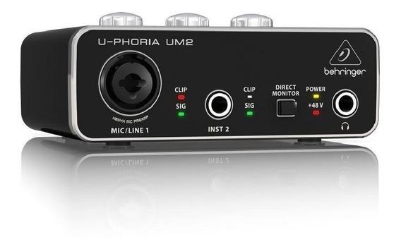 Interface De Áudio Um2 U-phoria Behringer Nf 2 Anos Garantia