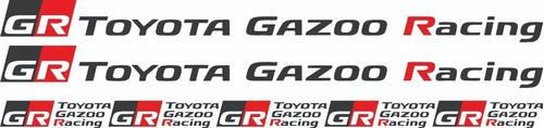 Imagen 1 de 1 de Calcos Kit Toyota Gazoo Racing - Graficastuning