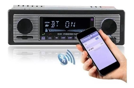Radio Vintage Retro Usb Bluetooth Carro Fusca Opala Antigo