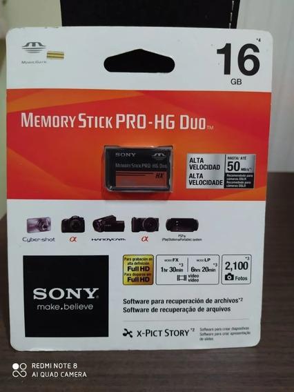 Cartão Memoria Sony 16gb Memory Stick Pro Hg Duo Original