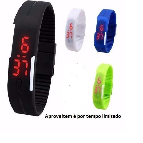 Kit 7 Relógios Led Digital Bracelete Sport Silicone Promoção