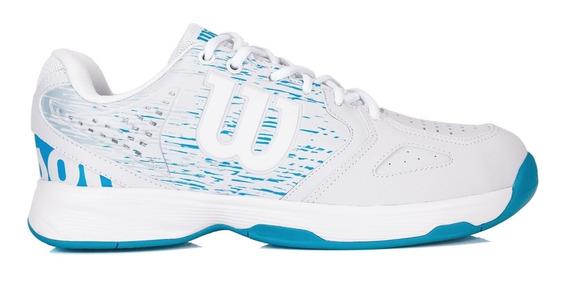 Tênis Wilson K Court Branco E Azul Celeste