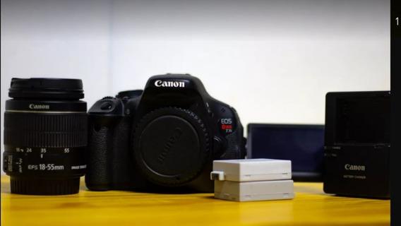 Canon T3i + 18-55mm + Bateria Extra E Frete Grátis