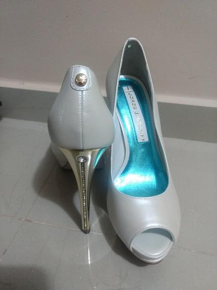 Sapato De Noiva - Peep Toe Coleção Say Yes Jorge Bischoff