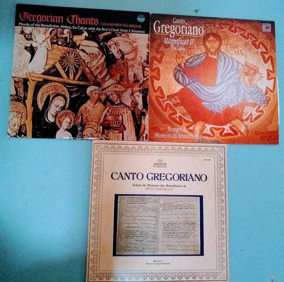 Lote Com 3 Lps Canto Gregoriano