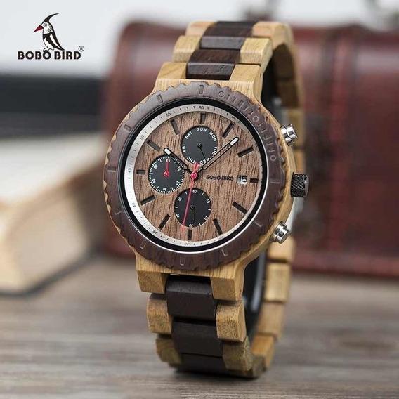 Relógio Masculino Bobo Bird W-s22