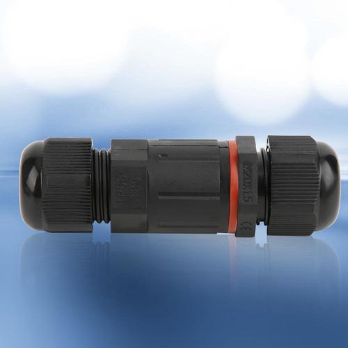 Conector de cable resistente al agua IP68 13 mm 3 polos para di/ámetro de cable de 1 3 unidades caja de distribuci/ón exterior