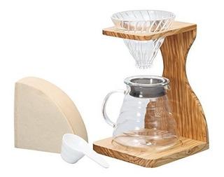 Cafetera Mesa Madera De Olivo Hario V60- Envío Gratis