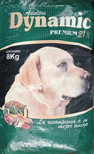 Ración Para Perros, Dynamic Premium 21% Prot X 8 Kgs
