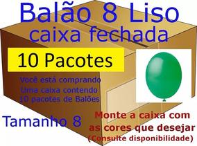 Balão Bexiga 8 Happy Day Caixa Com 10 Pacotes De 50 Un